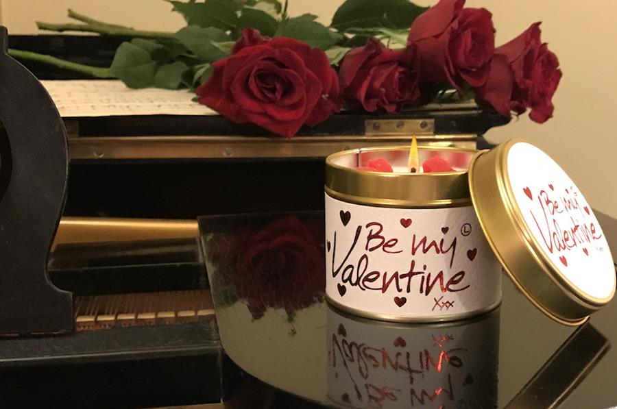 Lily-Flame candle - Be My Valentine