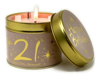 Lily-Flame Candle - Happy Birthday 21st