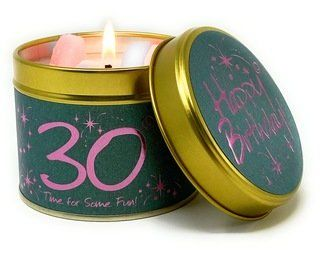 Lily-Flame candle - Happy Birthday - 30th