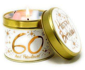 Lily-Flame candle - Happy Birthday 60th
