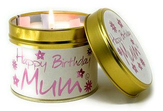 Lily-Flame candle - Happy Birthday Mum