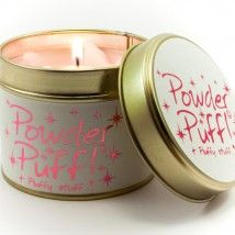 Lily-Flame candle- Powder Puff