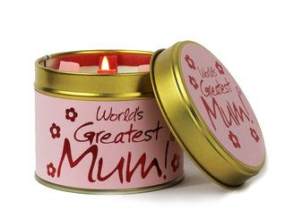 Lily-Flame candle - Worlds Greatest Mum!