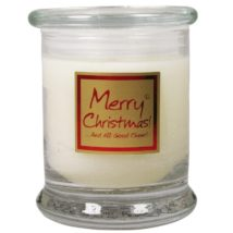 Lily-Flame Glass Jar - Merry Christmas