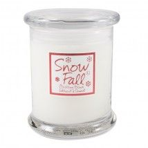 Lily-Flame Glass Jar - Snowfall